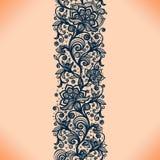 Картина абстрактной ленты шнурка безшовная с элементами цветет Стоковая Фотография RF