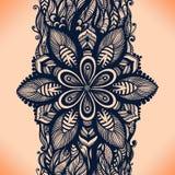 Картина абстрактной ленты шнурка вертикальная безшовная Стоковое Изображение