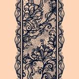 Картина абстрактной ленты шнурка вертикальная безшовная Стоковые Фотографии RF
