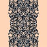 Картина абстрактной ленты шнурка вертикальная безшовная Стоковая Фотография RF
