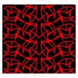 Картина абстрактной красной линии геометрическая безшовная Стоковое Фото