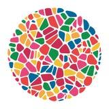 Картина абстрактной красочной мозаики вектора круглая иллюстрация вектора