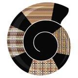 Картина абстрактной раковины племенная Стоковые Изображения RF