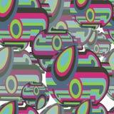 Картина абстрактной ткани безшовная красочных кругов и сферы Стоковые Фотографии RF