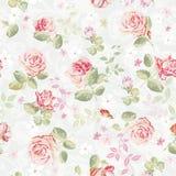 картина абстрактной элегантности флористическая безшовная Красивая текстура иллюстрации вектора цветков с розами Иллюстрация штока