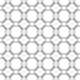 Картина абстрактных геометрических кругов безшовная Стоковое Изображение RF