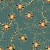 Картина абстрактных геометрических цветков безшовная вектор детального чертежа предпосылки флористический Стоковое Изображение