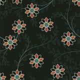 Картина абстрактных геометрических цветков безшовная вектор детального чертежа предпосылки флористический Стоковое Изображение RF
