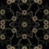 Картина абстрактных геометрических цветков безшовная вектор детального чертежа предпосылки флористический Стоковая Фотография RF
