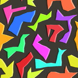 Картина абстрактных полигонов контраста безшовная Стоковое фото RF