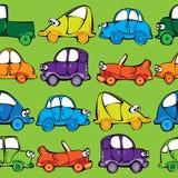 Картина автомобилей вектора безшовная Стоковое Изображение