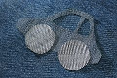 Картина автомобиля от ткани джинсов Стоковое Изображение