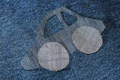 Картина автомобиля от ткани джинсов Стоковые Фотографии RF