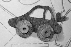 Картина автомобиля от ткани джинсов Стоковое Изображение RF