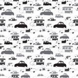 Картина автомобилей безшовная Стоковая Фотография