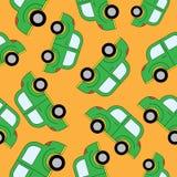 Картина автомобилей шаржа безшовная Шаблон для конструкции Стоковое Изображение