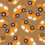 Картина автомобилей шаржа безшовная Шаблон для конструкции Стоковые Изображения RF