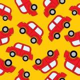Картина автомобилей шаржа безшовная Шаблон для конструкции Стоковая Фотография RF