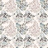 Картина акварели безшовная - ветви дерева заполнили с минимальной, текстура doodle бесплатная иллюстрация