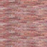 Картина акварели безшовная красной кирпичной стены стоковая фотография rf