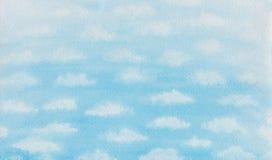 Картина акварели облаков ручной работы Стоковое Изображение