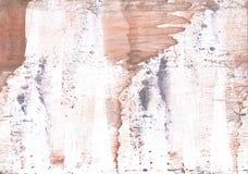 Картина акварели персика абстрактная Стоковые Изображения