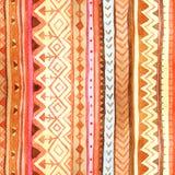 Картина акварели племенных нашивок безшовная Стоковые Фотографии RF