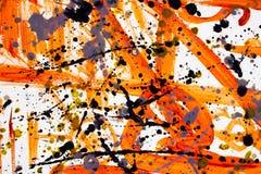 Картина акварели руки вычерченная E r E Краска пятна Краска щеток r иллюстрация вектора