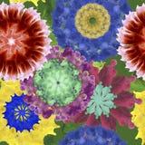 Картина акварели цветка от 70s стоковая фотография rf
