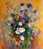 Картина акварели цветков Стоковое Изображение RF
