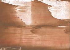 Картина акварели cиенны абстрактная Стоковое Изображение