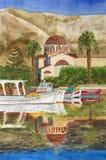 Картина акварели Elounda бесплатная иллюстрация