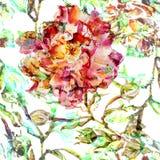 Картина акварели безшовная бесплатная иллюстрация