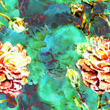 Картина акварели безшовная иллюстрация штока