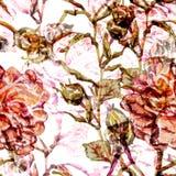 Картина акварели безшовная Стоковая Фотография