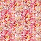 Картина акварели безшовная Стоковые Изображения RF