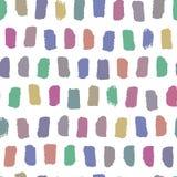 Картина акварели вектора безшовная Абстрактная предпосылка с ходами щетки Multicolor текстура нарисованная рукой для дизайна Стоковые Фотографии RF