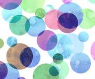 Картина акварели геометрическая Стоковое Изображение