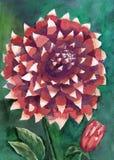 Картина акварели оранжевой предпосылки роз Стоковые Изображения RF