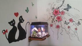 картина Аквариум-стены Стоковая Фотография