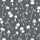 Картина лампы безшовная Иллюстрация вектора