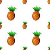 Картина ананаса безшовная также вектор иллюстрации притяжки corel Стоковые Изображения RF