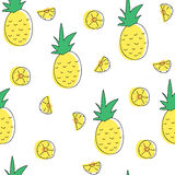 Картина ананаса безшовная Стоковая Фотография