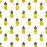 Картина ананаса безшовная Стоковое Изображение