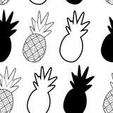 Картина ананаса жизнерадостная на белой предпосылке иллюстрация вектора