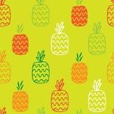 Картина ананасов безшовная Стоковое Изображение
