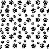 Картина лапок собаки безшовная бесплатная иллюстрация