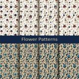 Картина арабескы безшовного вектора флористическая с винтажной печатью дизайн для крышек, ткань, упаковывая Стоковое фото RF