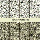 Картина арабескы безшовного вектора флористическая с винтажной печатью дизайн для крышек, ткань, упаковывая Стоковые Изображения