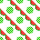 Картина арбуза безшовная, предпосылка Стоковое Фото